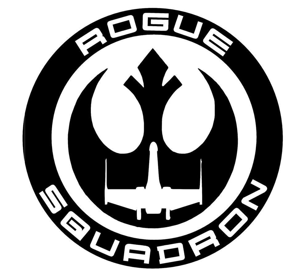 Star wars rogue squadron sticker vinyl decal oracal car window wall decor oracal