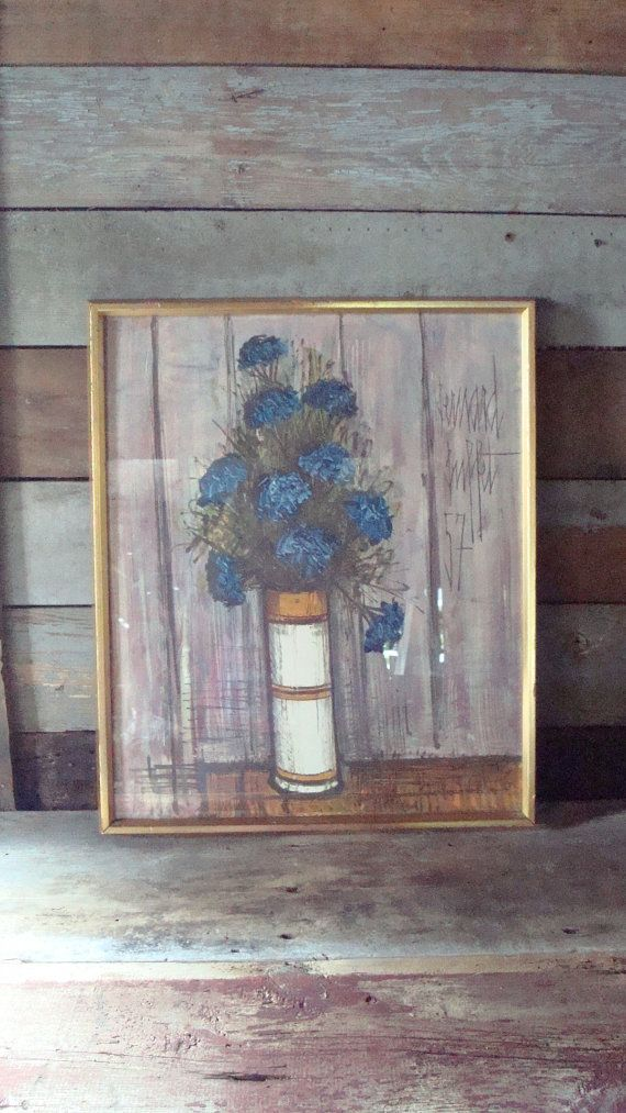 Remarkable Vintage Bernard Buffet Le Bouquet 50S Print Rustic Interior Design Ideas Apansoteloinfo