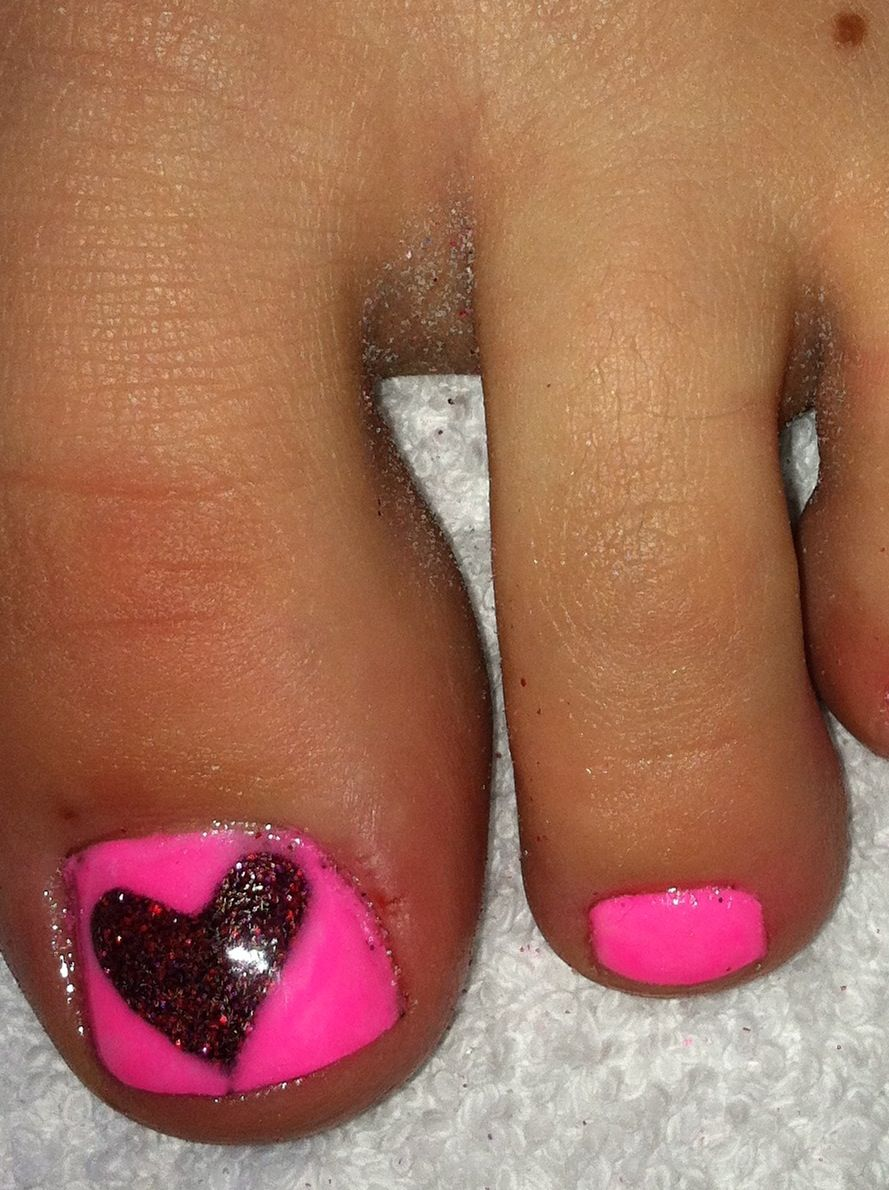 Pink acrylic with red glitter acrylic
