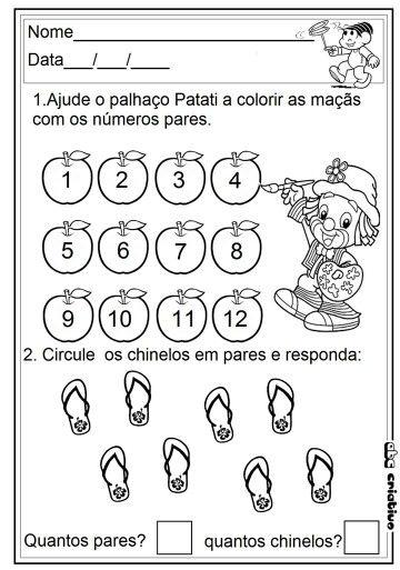 Pin De Maria Alcobia Em Atividades De Matematica Pre Escolar