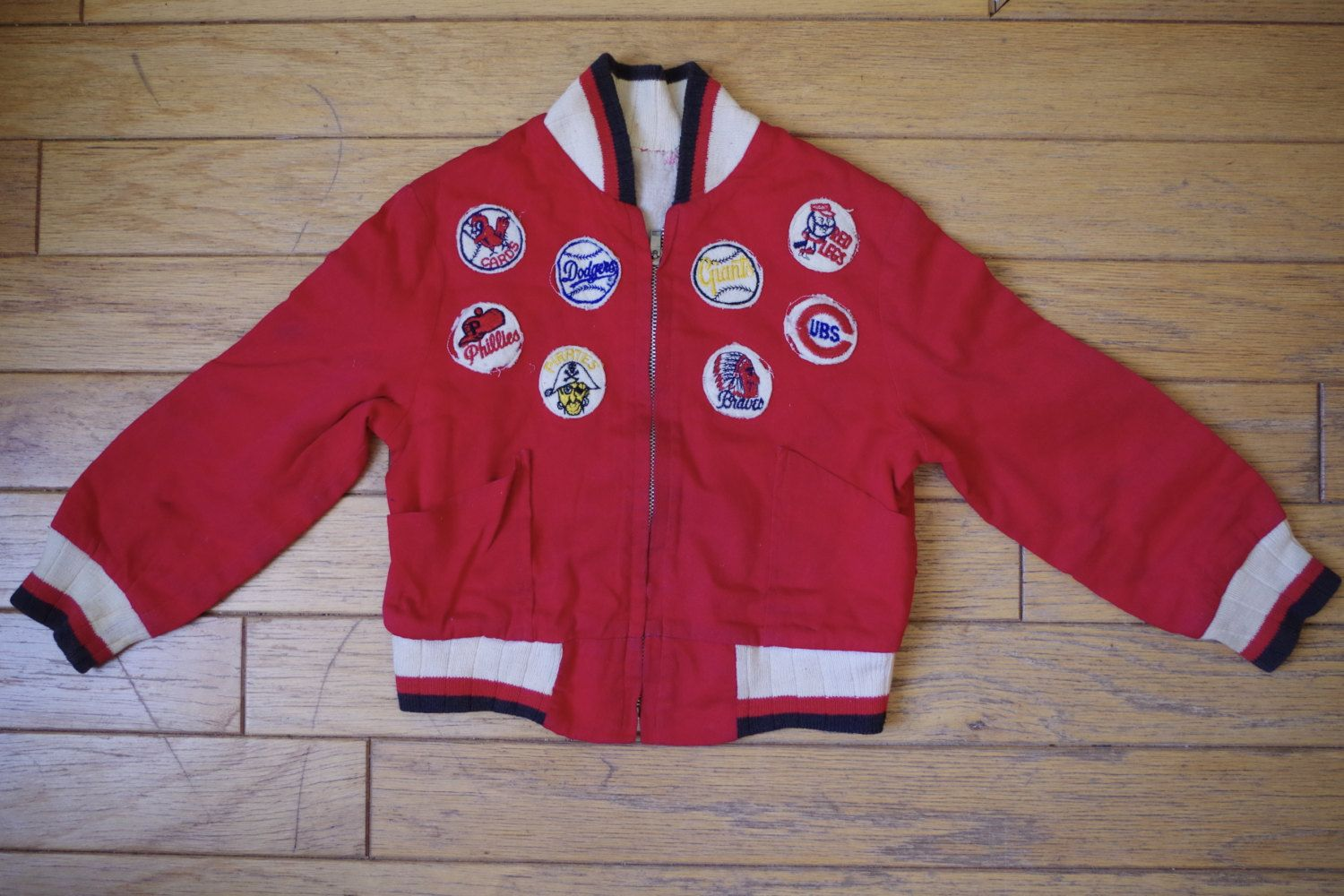 Adorable Vintage Toddler Baseball Jacket with Team Patches by ...