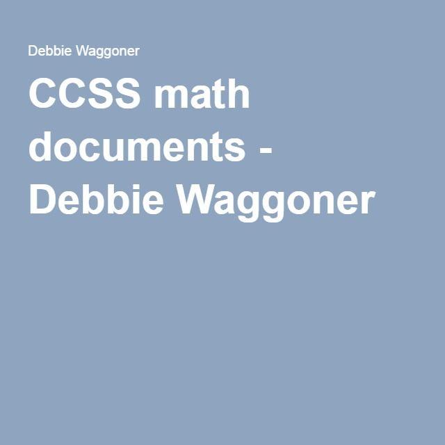 CCSS math documents - Debbie Waggoner