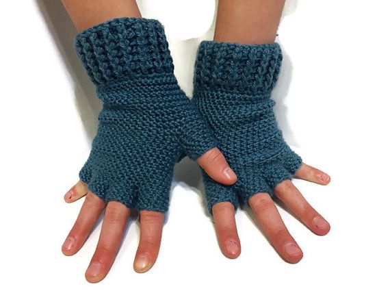 Texting Gloves Driving Gloves Half Finger by CrochetByShelliott #textinggloves #fingerlessgloves #crochetgloves