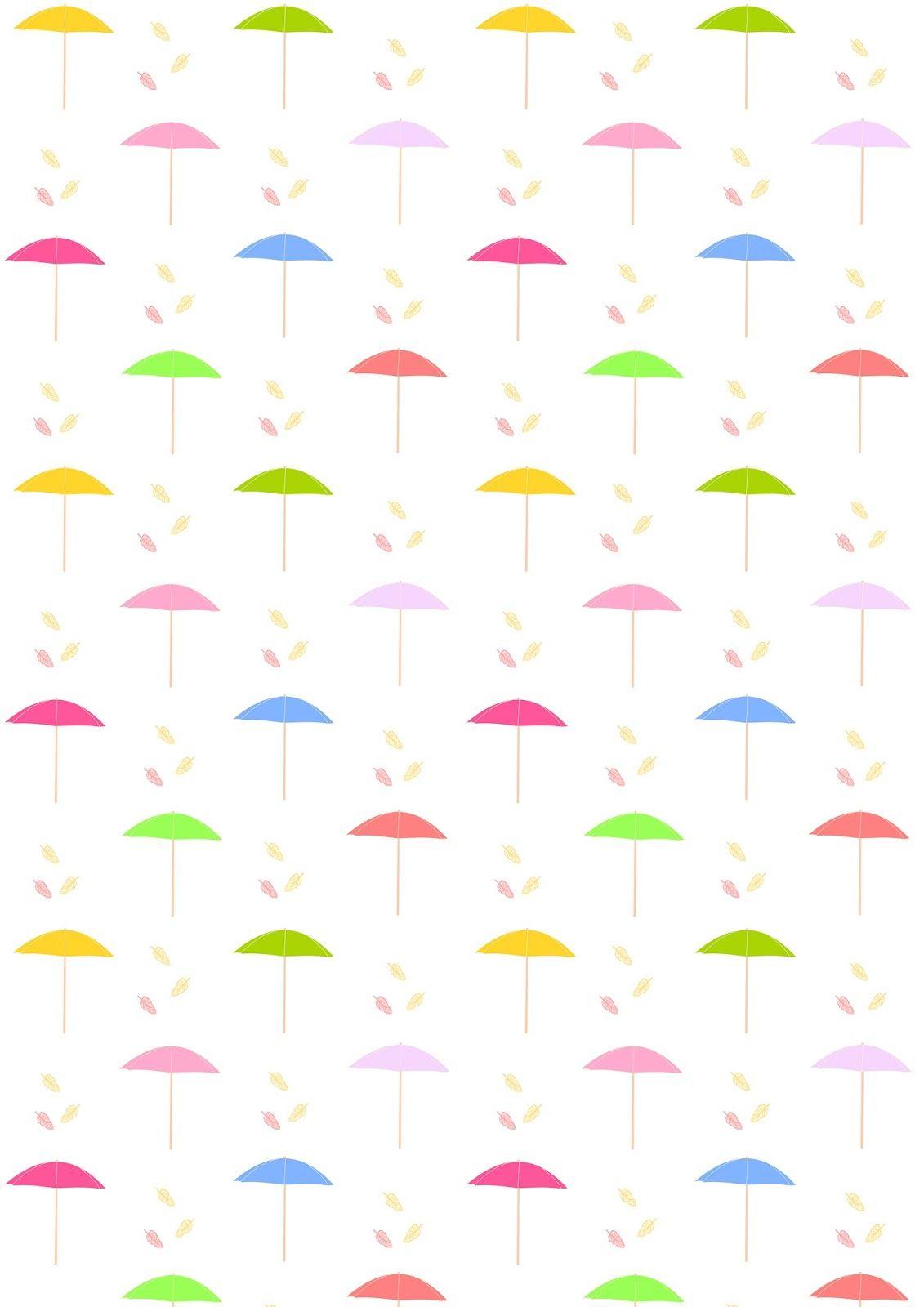 Scrapbook paper beach - Free Printable Beach Umbrella Pattern Paper Parasolpattern