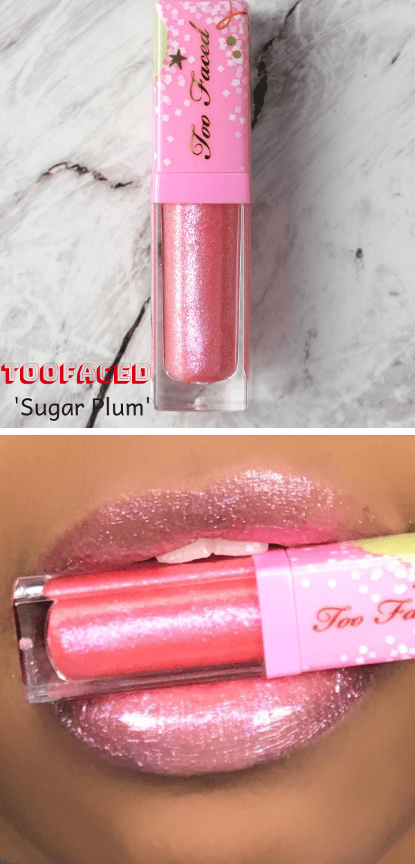 Too Faced You Better Not Pout But If You Do Keep It Glossy Lip Gloss Swatches Puckerupbabe Bright Pink Lipsticks Glossy Lips Lipgloss Swatches