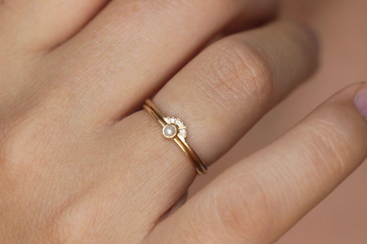 37+ Pearl wedding rings set ideas in 2021