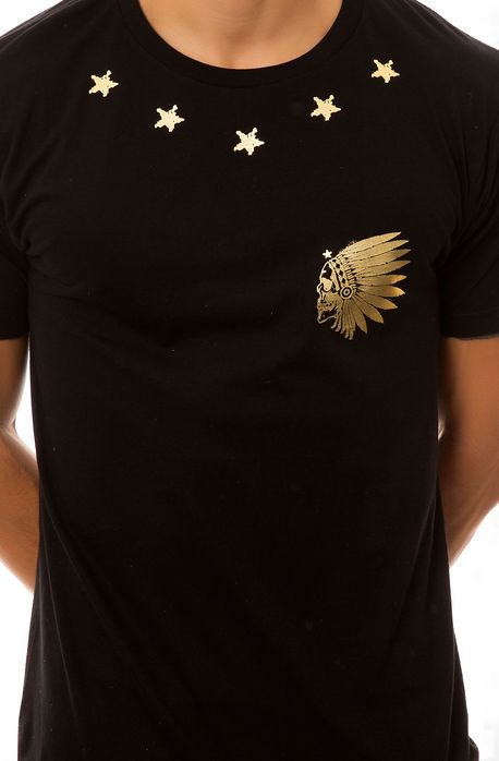 f7de39dd The Native Skull Star Tee in Black and Gold | GOLDEN TOUCH in 2019 ...