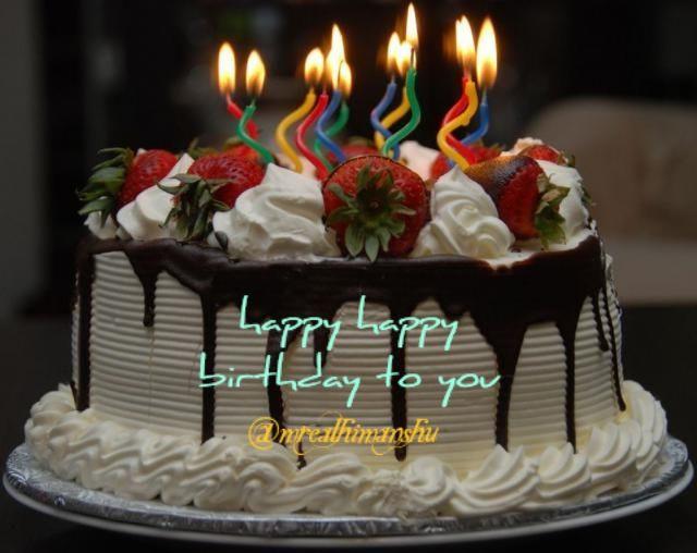 Men Happy Strawberries Birthday Cakes