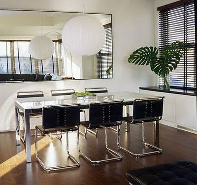 dining room parsons table | A custom chrome and glass Parsons ...