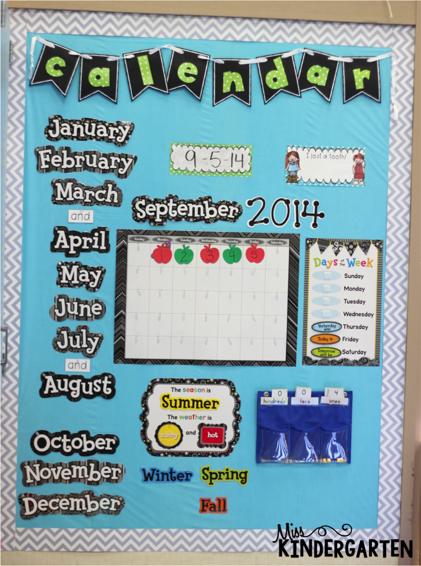 Kindergarten Calendar Time : Calendar time using interactive notebooks