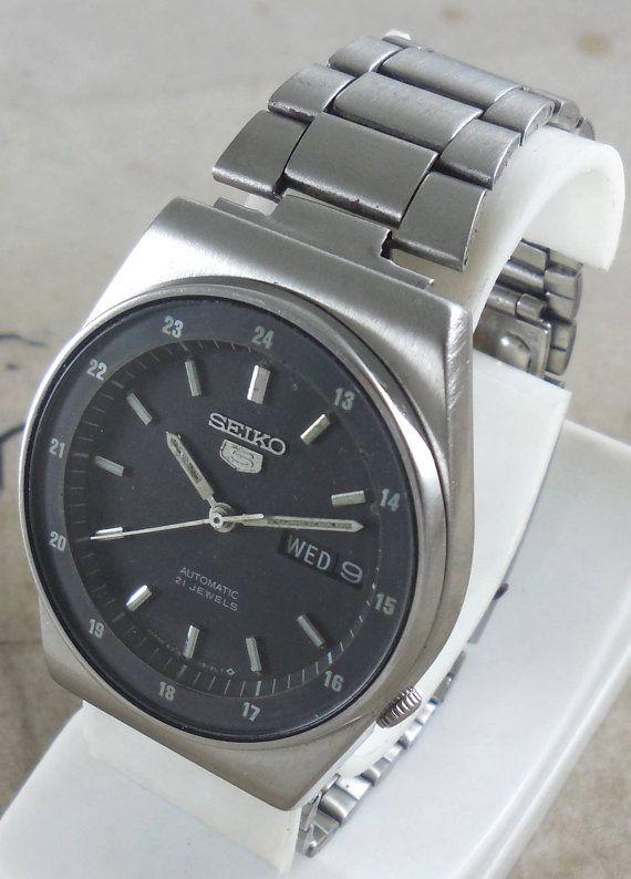 Original Vintage Seiko 5 Automatic 21j Japan 6319 609a Running Seiko 5 Automatic Seiko Vintage Watches