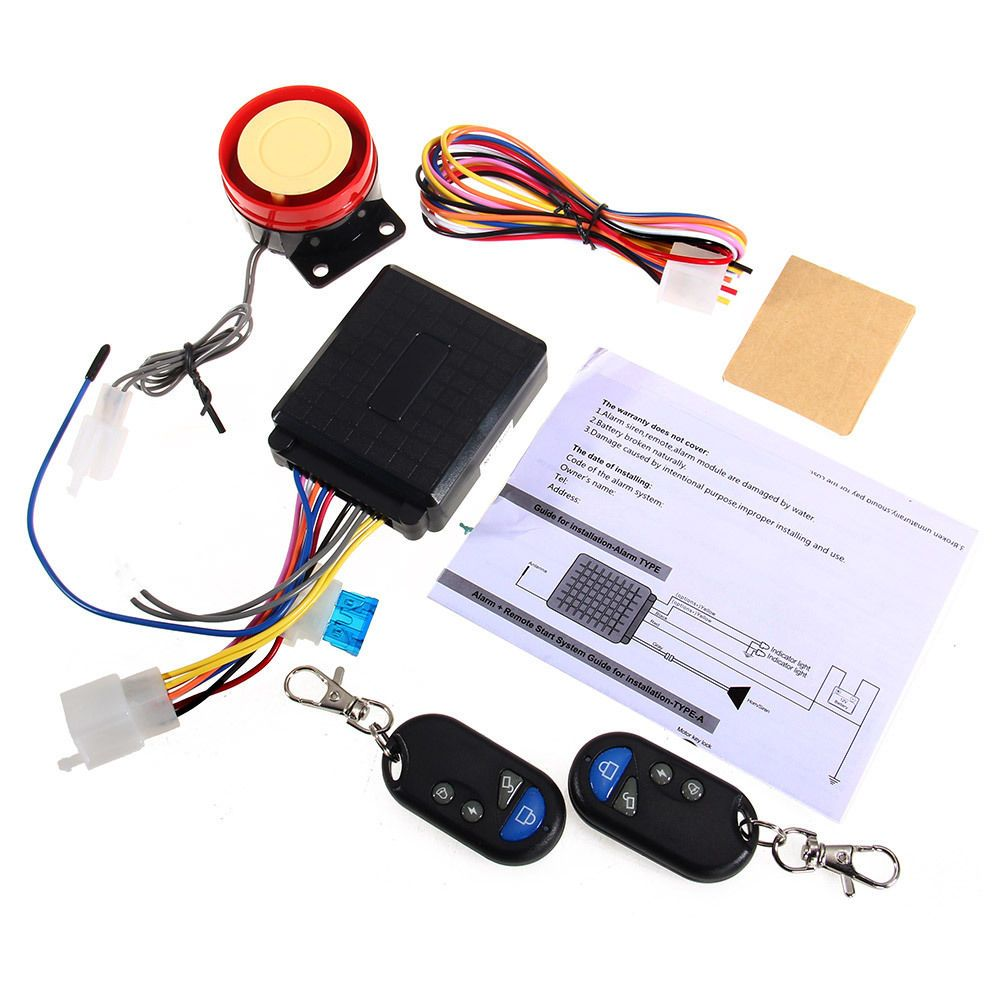 Best Price 12v Motorcycle Bike Alarm System Scooter Anti Theft