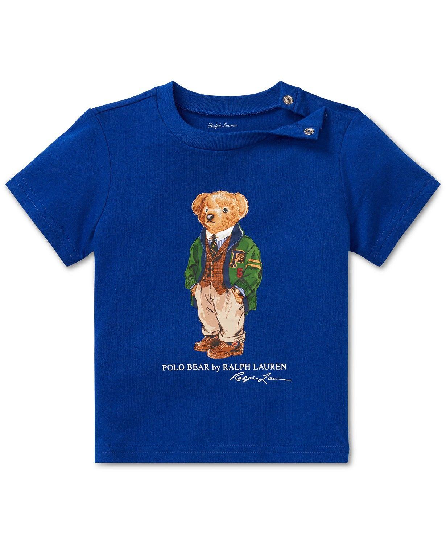089f0621 Polo Ralph Lauren Baby Boys Polo Bear Cotton T-Shirt ...