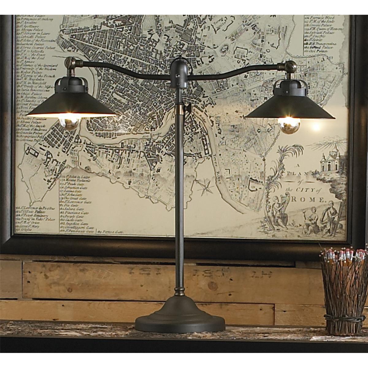 Double Arm Vintage Industrial Desk Lamp