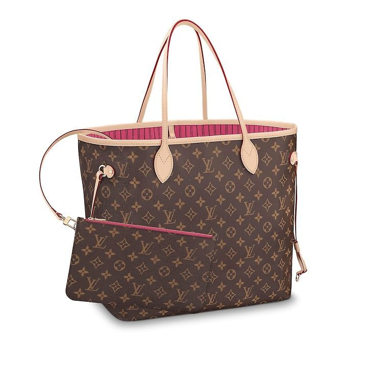Women - Pink lining Neverfull GM Monogram Canvas Women Handbags Business  Bags  f37e32adb3ba0