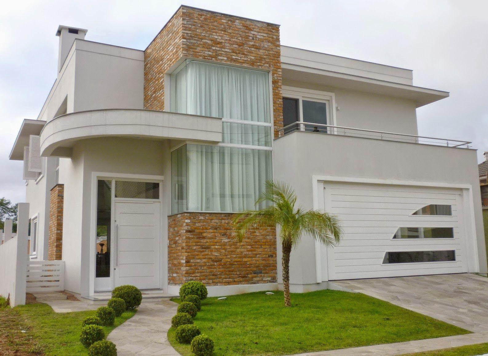Fachadas de casa com cores claras off white dicas de for Casas modernas pintadas