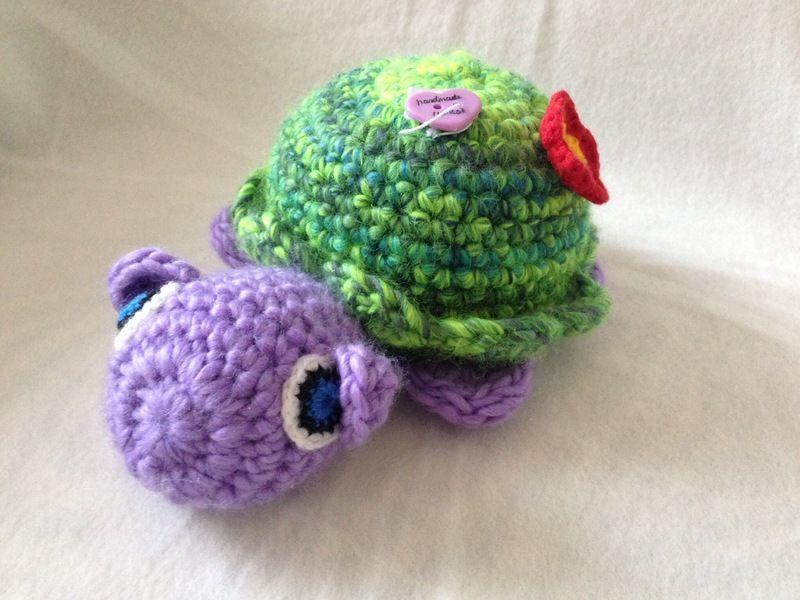 Schildkröte Lilly von mit Nadel, Charme & Wolle ❤️ auf DaWanda.com