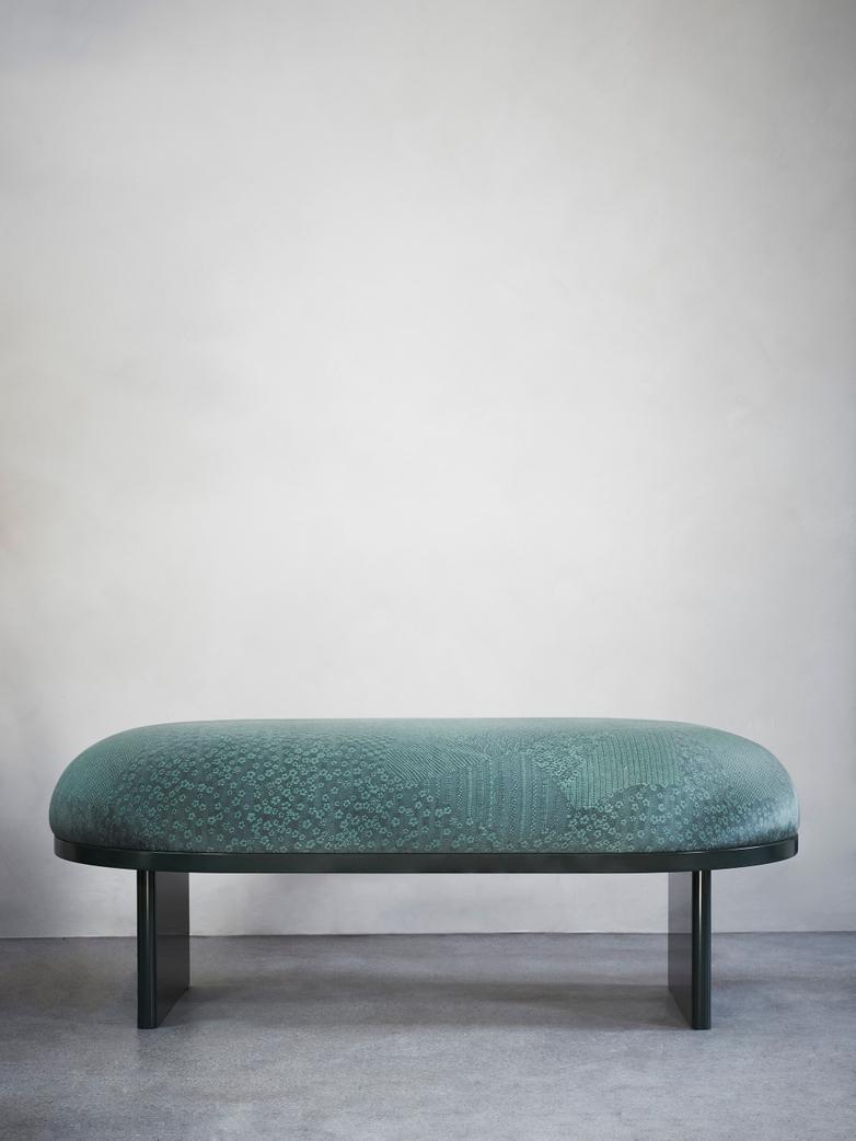 Anza Bench Cedar Green Furniture Minimal Chairs Bench