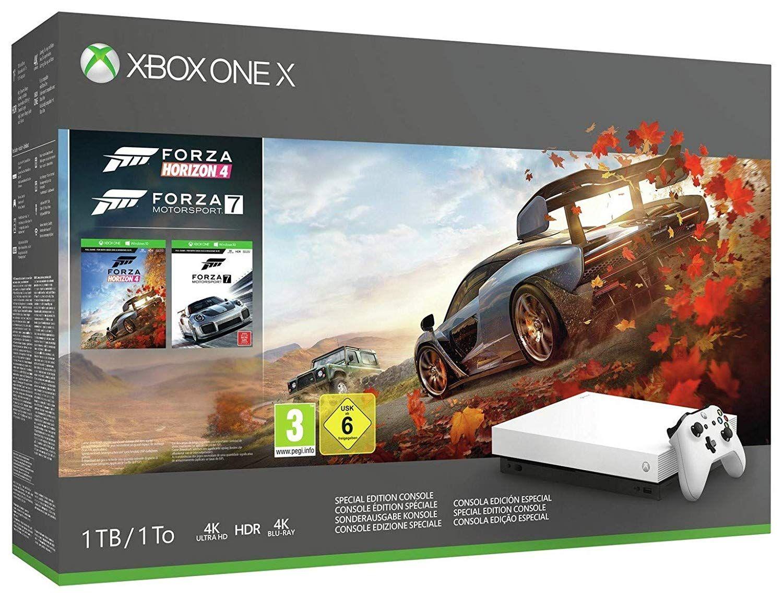 Microsoft Limited Edition White Xbox One X Forza Motorsport 7 And Horizon 4 Bundle Forza Horizon 4 Forza Moto Forza Horizon 4 Xbox One Console Forza Horizon