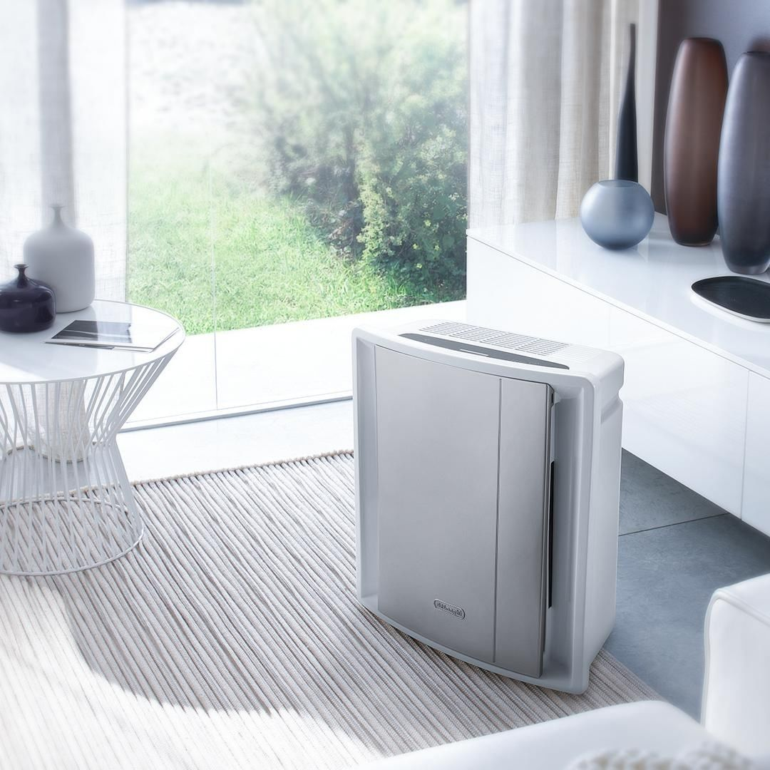 Combining A Sleek Design With High Quality Performance The De Longhi Air Purifier Improves Indoor Air Q Cool Diy Projects Home Improvement Improve Curb Appeal