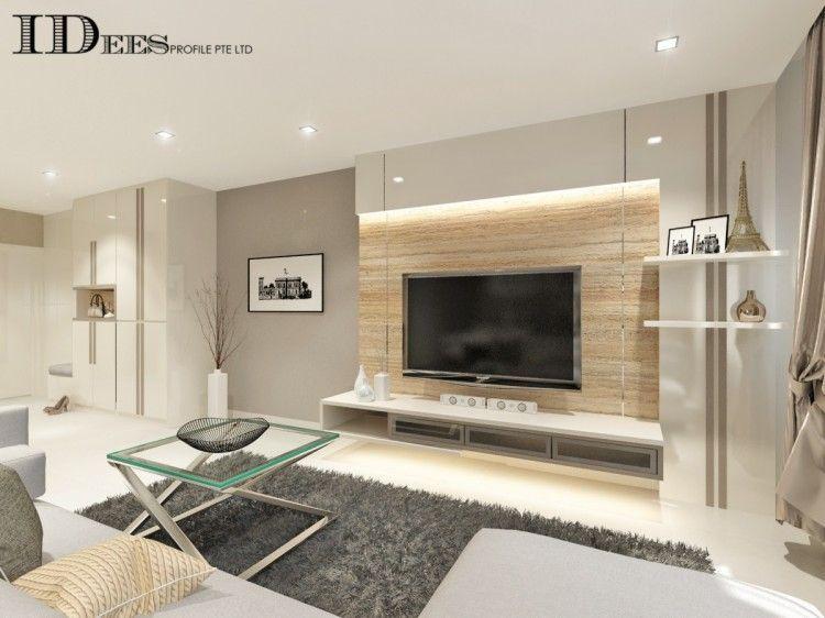 Contemporary Modern Scandinavian Design Living Room Hdb 4 Room Design By Idees Inte Living Room Wall Designs Tv Console Design Living Room Decor Modern