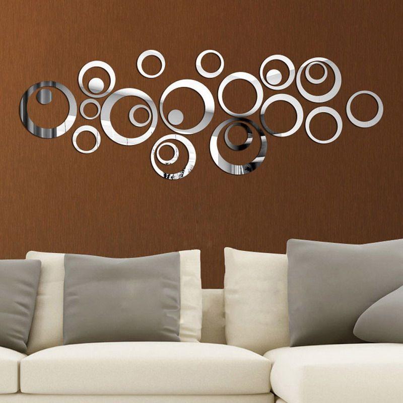 36 Cm Diy Circle Acrylic Mirror Diy Modern Vinyl Art Mural Wall