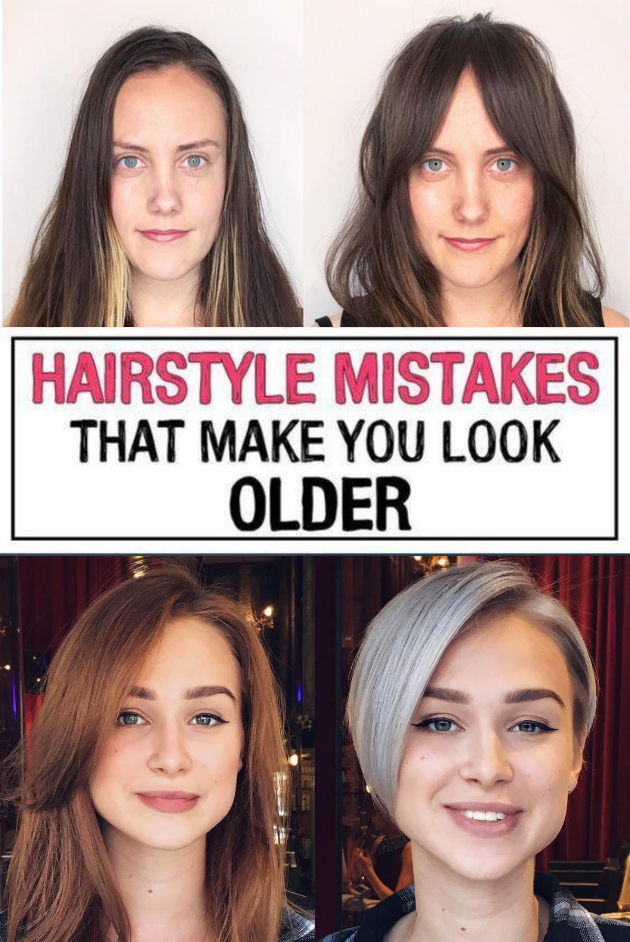 11 Hairstyle Mistakes That Are Aging You In 2020 Hair Mistakes Hairstyle Natural Beauty Tips