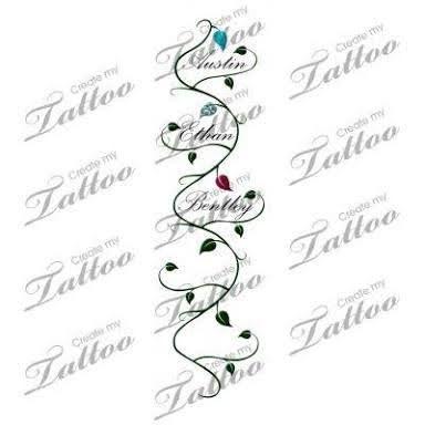 Resultado de imagen para children's names tattoos for ...