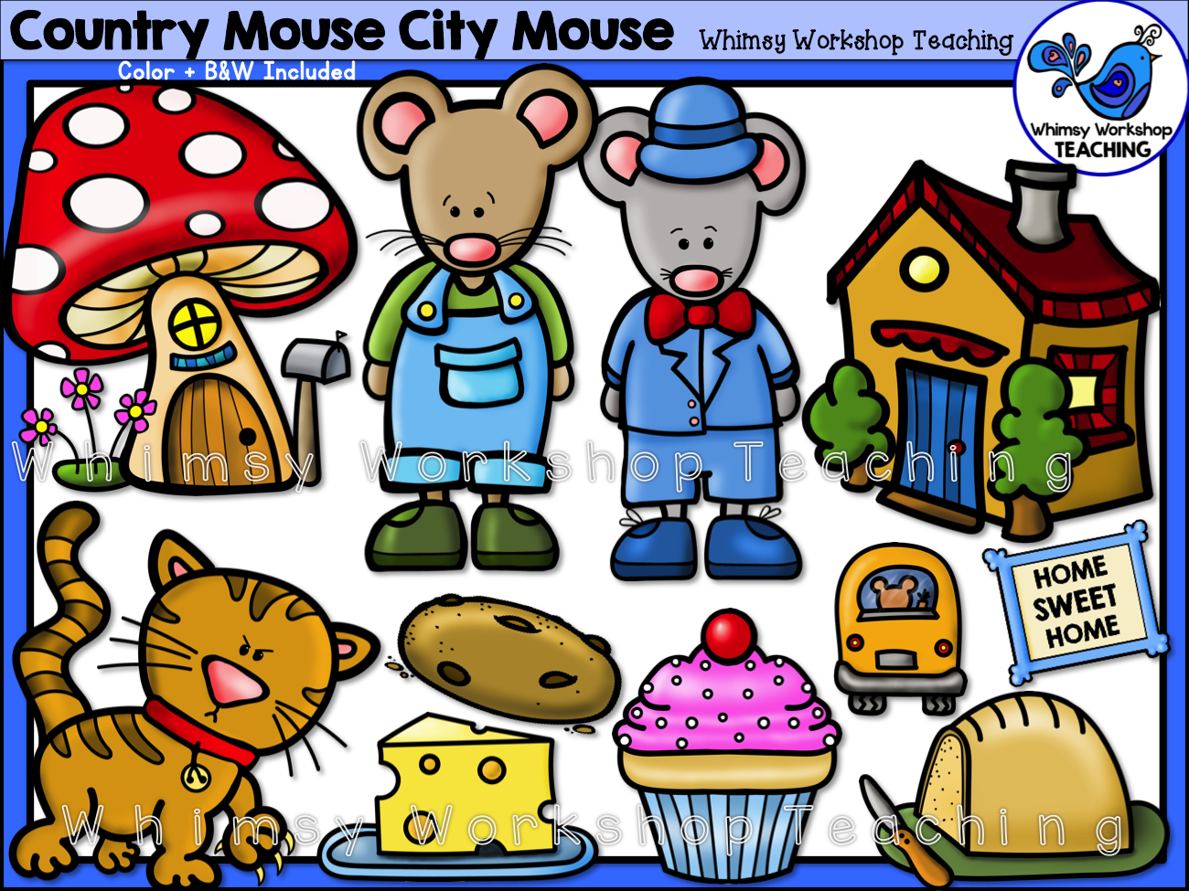 Country Mouse City Mouse Clip Art