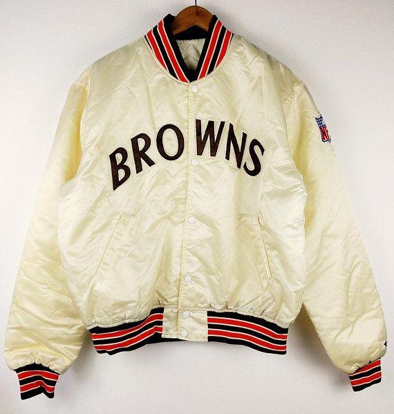 Cheap Vintage 1990s Authentic Starter Pro Line Cleveland Browns NFL Satin  for sale