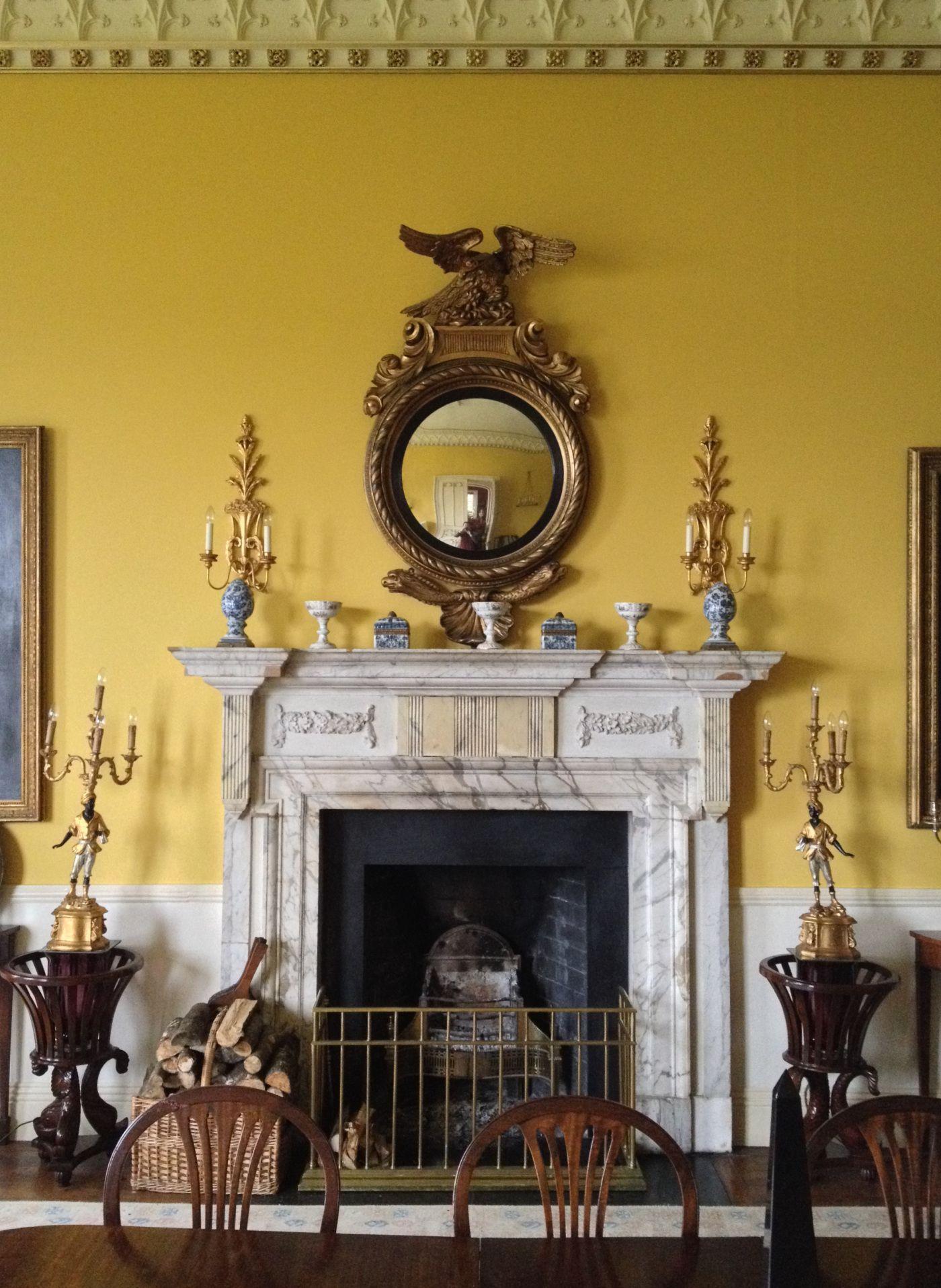 Domat Omnia Virtus Georgian Interiors Fireplace Mantel Designs Regency Dining Room