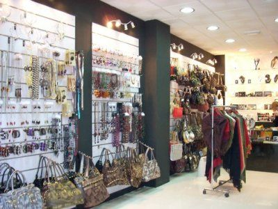 59b8cc595e Women Accessories shop. Nice slat wall display