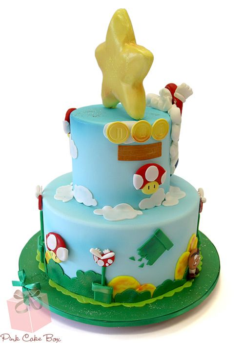 Super Mario Bros Cake for Jimmy Fallon Celebration Cakes Mario