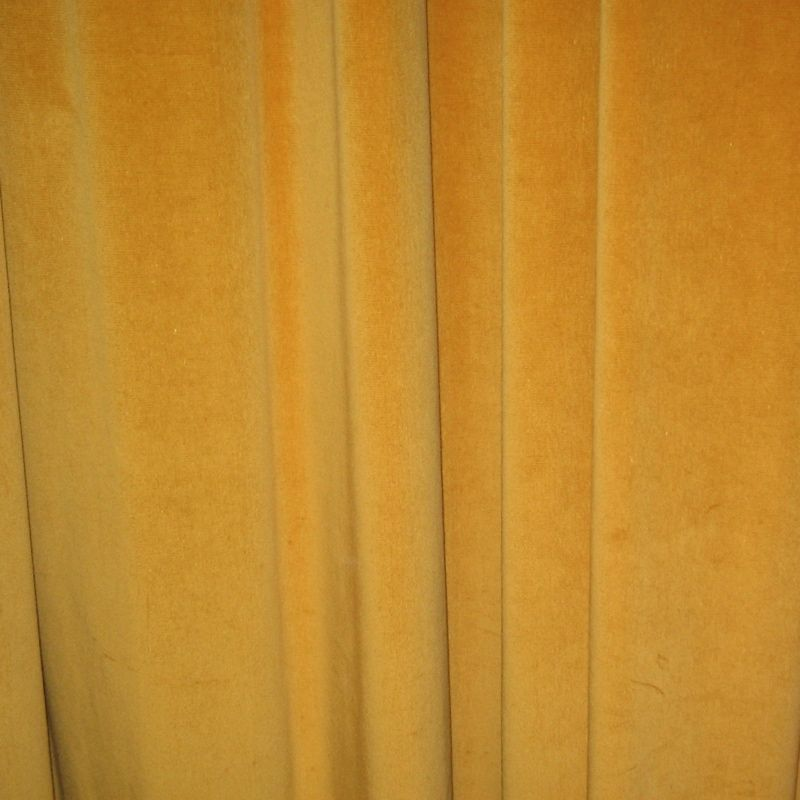 Mustard Yellow Velvet Curtains