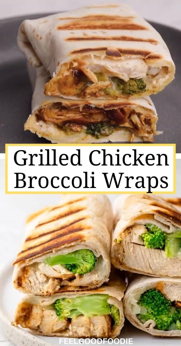 Grilled Chicken Broccoli Wraps