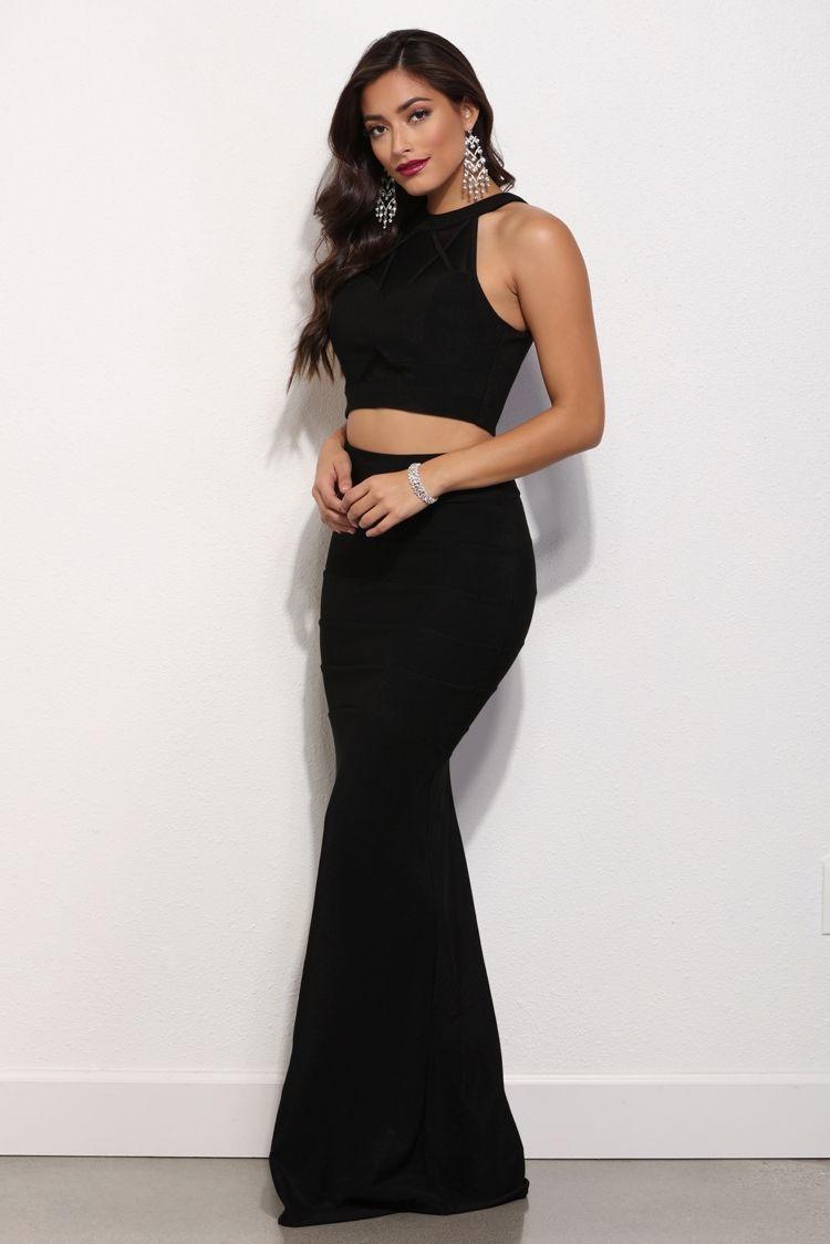 Adeline black mesh exposure dress black mesh gatsby and prom