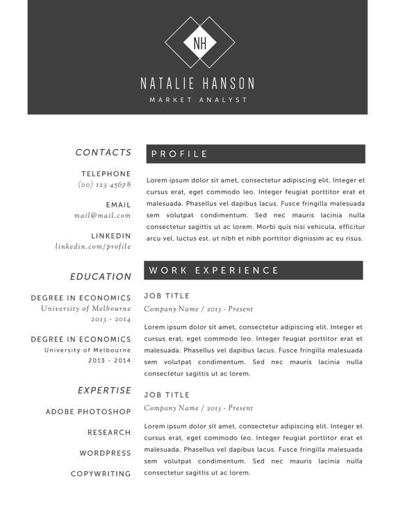 Modern Resume And Business Card Template Pack For Ms By Gtemplates
