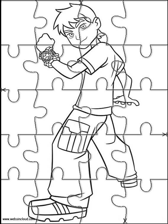 Puzzles Quebra Cabecas Para Impressao Para Criancas Ben 10 12