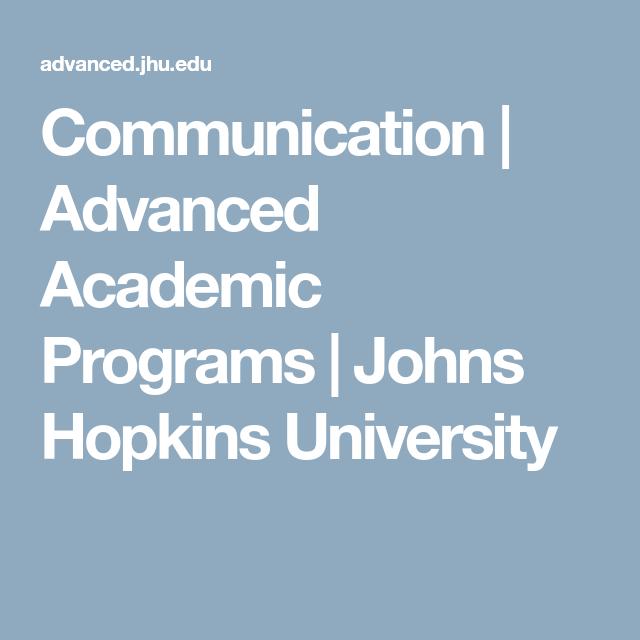 Advanced Academic Programs
