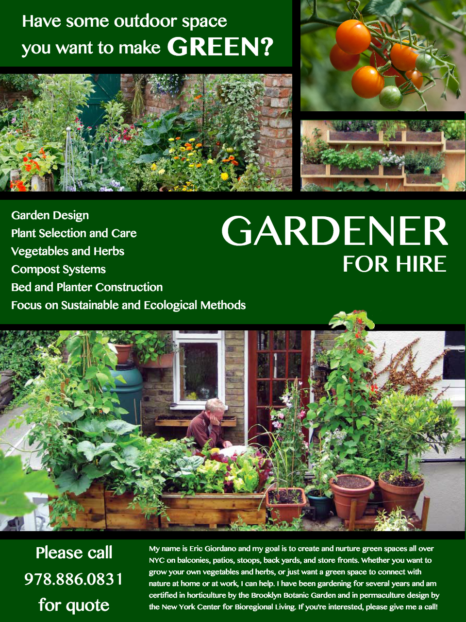 Would Love Some Feedback On This Flyer I Made For Gardening Services Garden