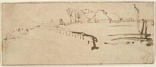Image result for rembrandt winter landscape