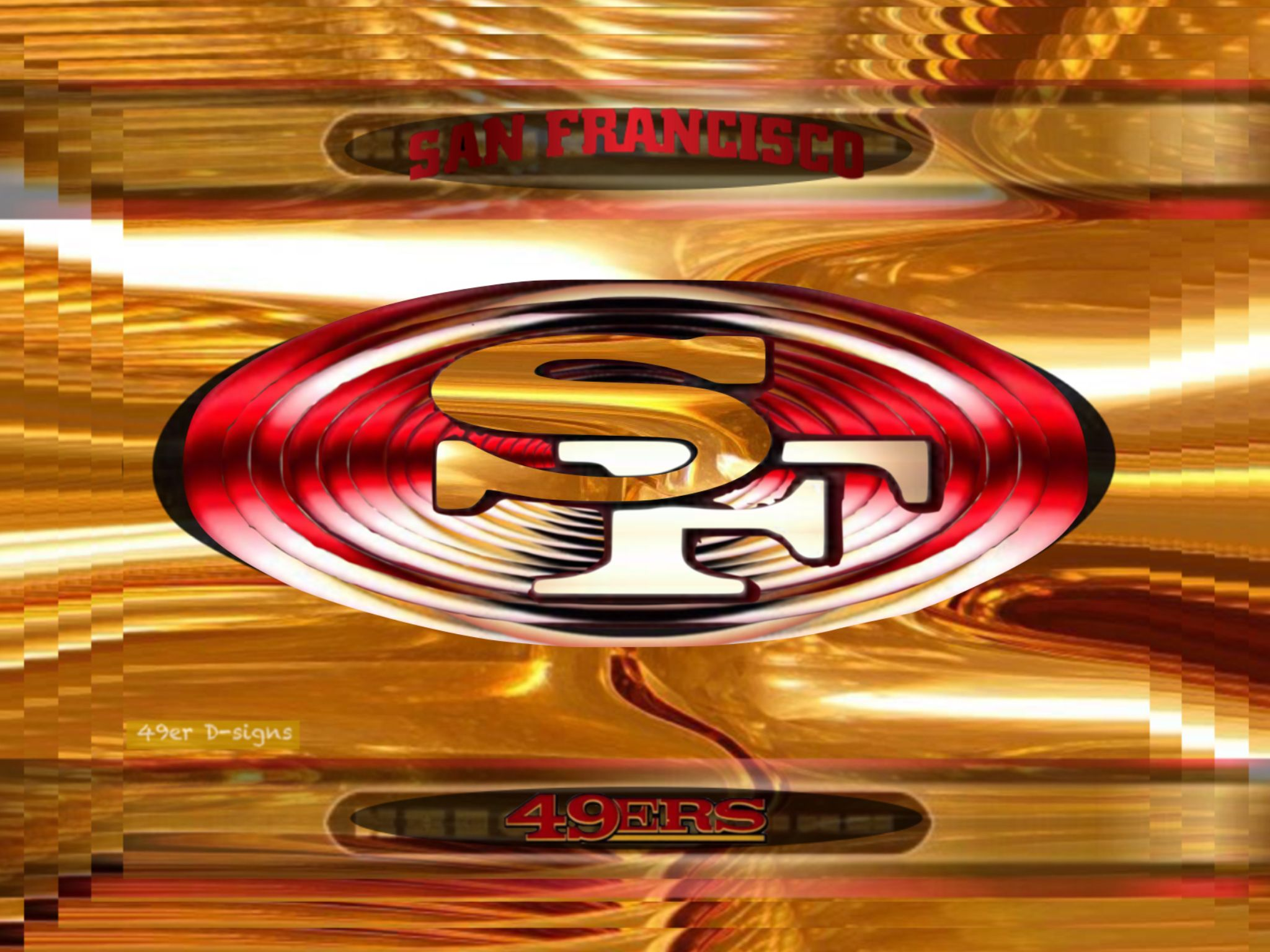 49er Logos by 49er Dsigns Nfl football wallpaper