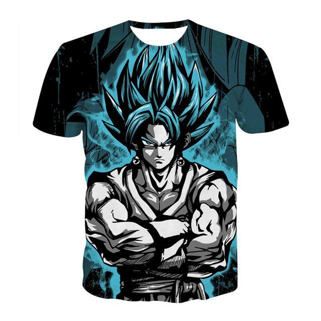 b1700e0d Buy 2017 New Fashion Summer T-shirt Men Short Sleeve Anime Dragon Ball T  Shirt Homme 3D Vegeta Super Saiya Printed Tee Shirt Homme (Copy) at ...