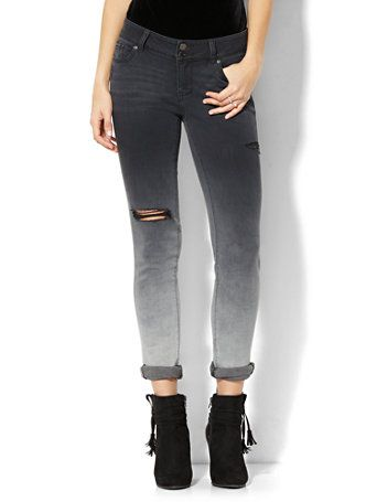a7db72df56e7 Shop Soho Jeans - Destroyed Boyfriend - Black Ombré Wash. Find your perfect  size online at the best price at New York   Company.