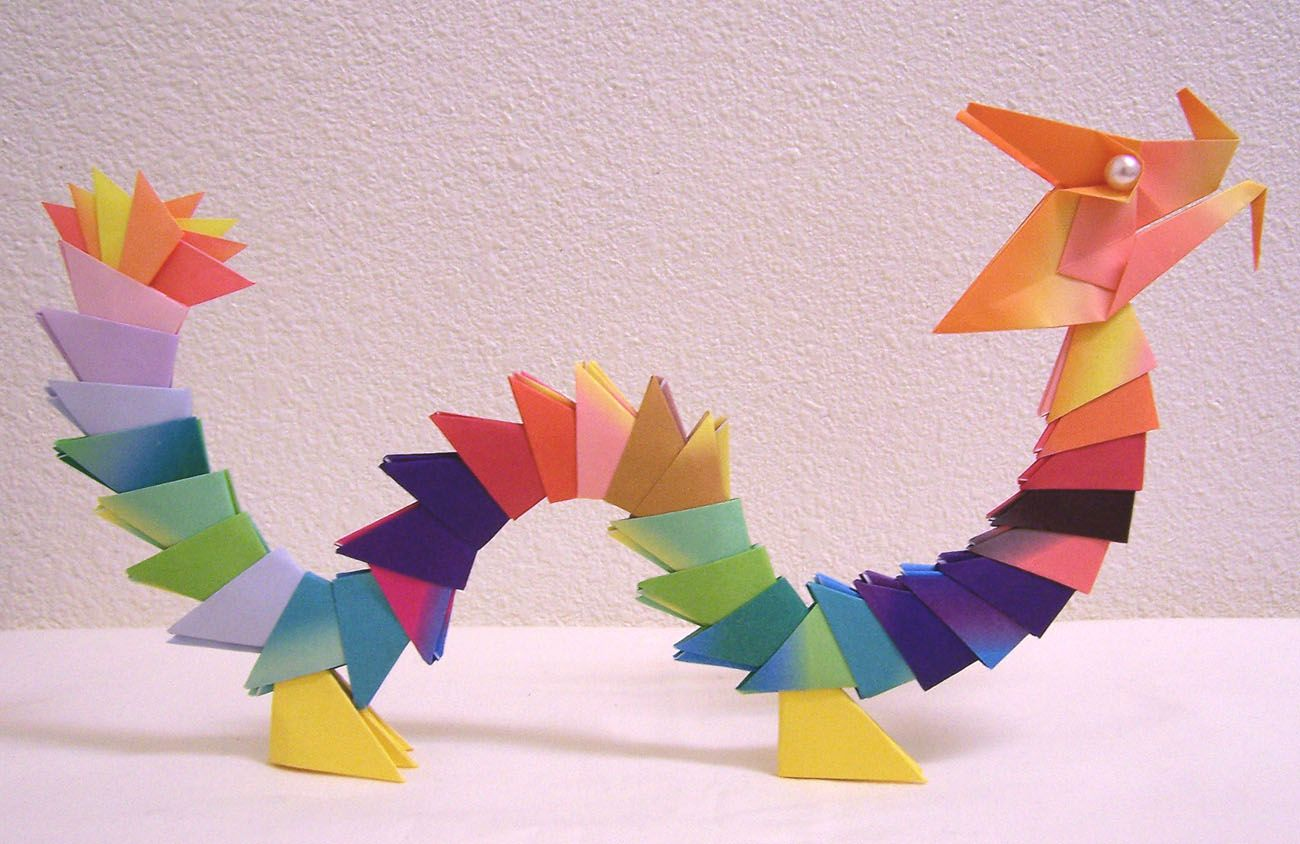 paper dragon paper craft origami | Paper Crafts for Kids ... - photo#19