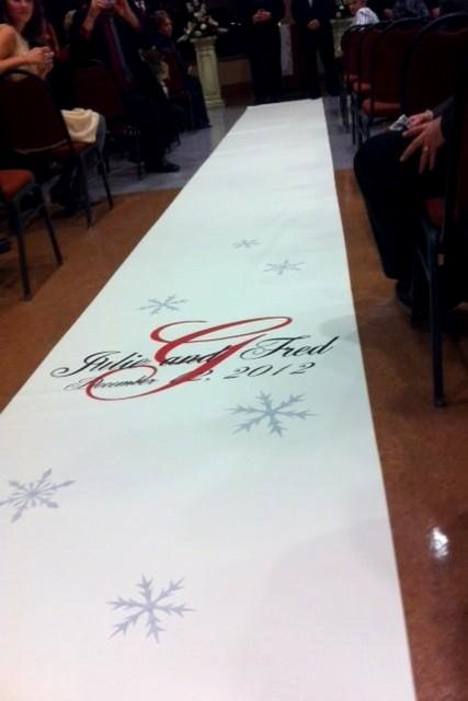 Add Snowflakes To Your Runner Accent The Holidays Or A Winter Wedding Aisle