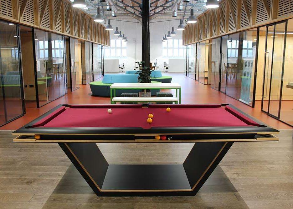 Sphinx Pool Table In Modern Office Space Pool Table Modern Pool Table Modern Pool Table Lights