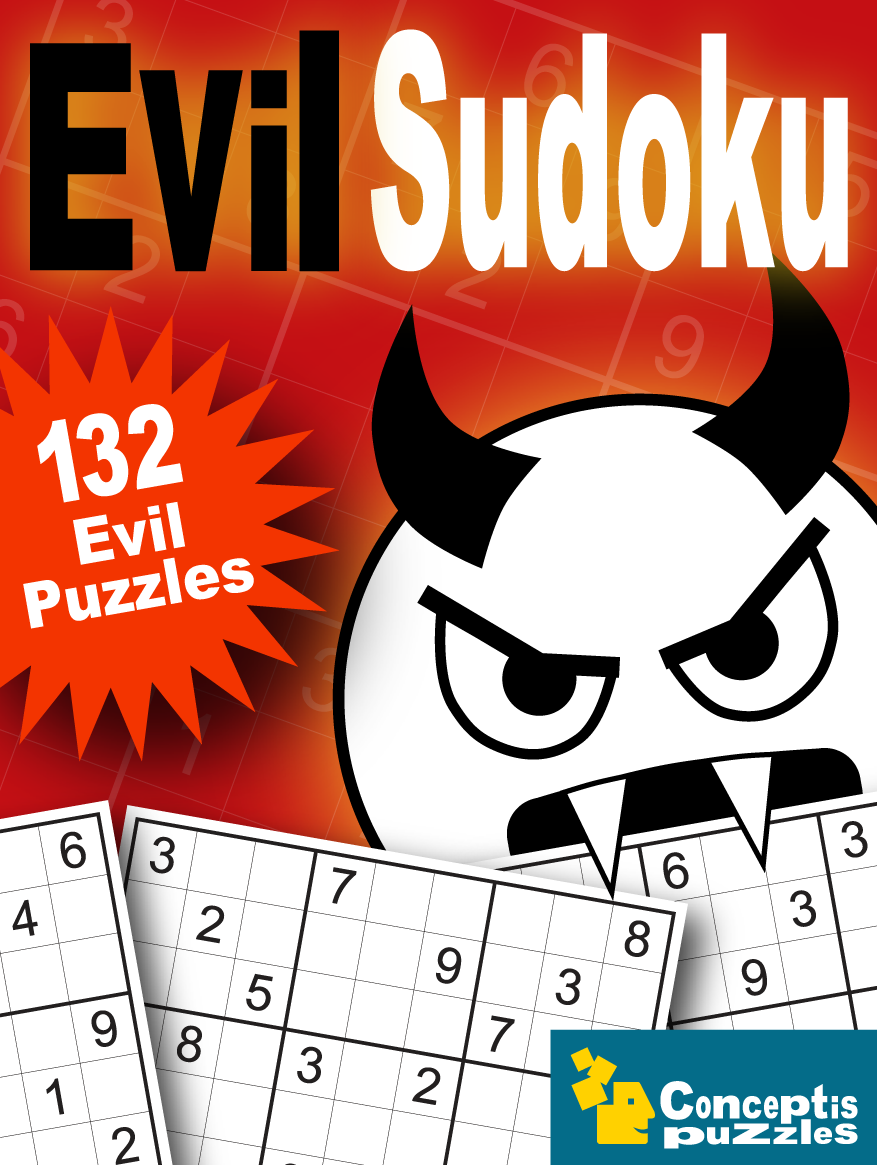 Evil Sudoku 40 Page Downloadable Pdf Book Containing 132 Classic
