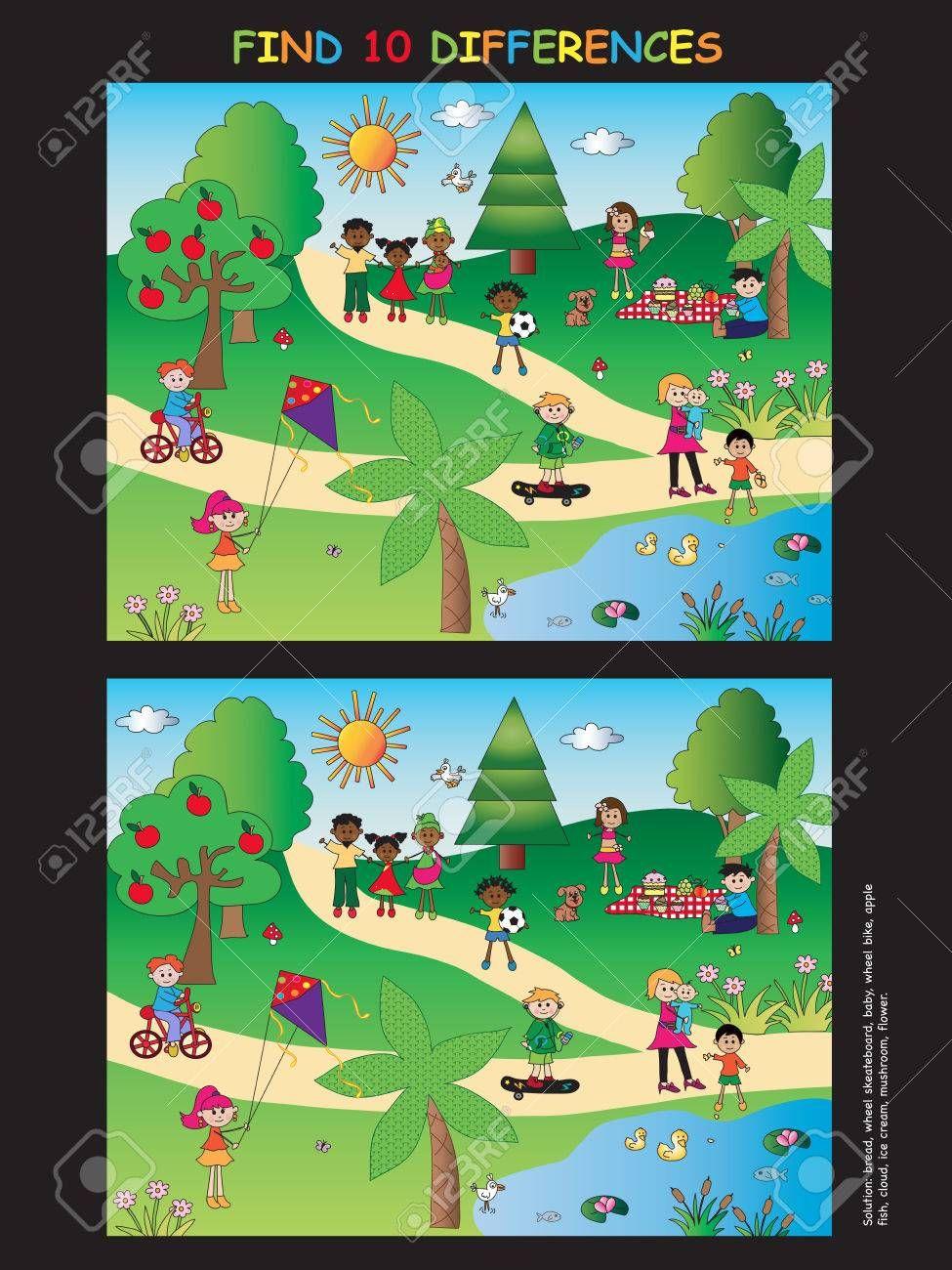 Jeux Pour Les Enfants Trouver Dix Differences Jeux Enfants Jeux Enfant