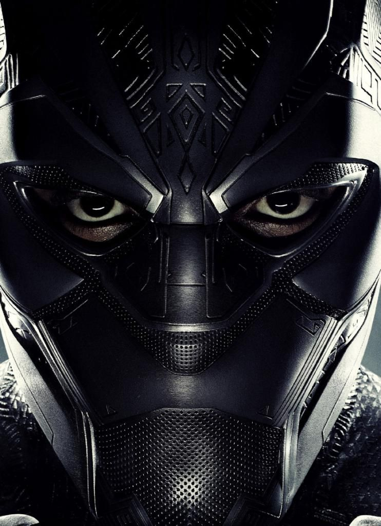 Best Wallpaper For Iphone X Black Panther Superhero Face Movie 2018